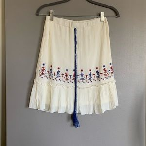 Love FIRE Pull On Cream Flare Skirt S Size